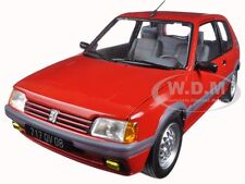 1988 PEUGEOT 205 GTI 1.6 VELLELUNGA RED 1:18 DIECAST MODEL CAR BY NOREV 184853