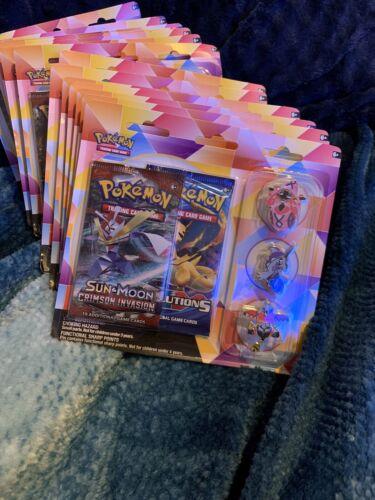 Pokemon Sun /& Moon Crimson Invasion And XY Evolutions 3 Pin Booster Packs NEW