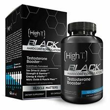 High T Black- Testosterone Booster Supplement BONUS 25% More 152 capsules