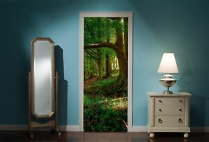 Door-Mural-Enchanted-Forest-View-Wall-Stickers-Decal-Wallpaper-16