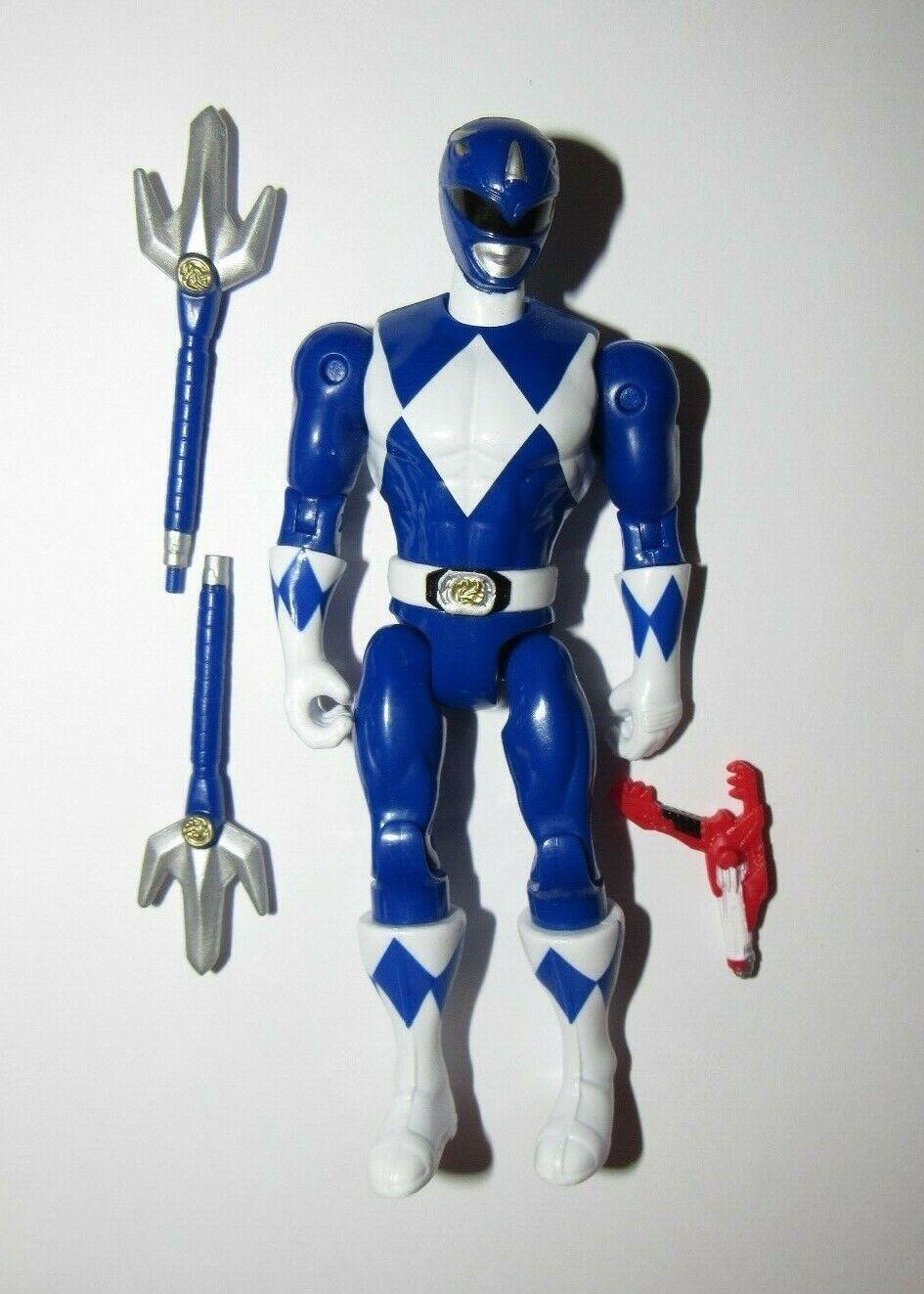 Power Rangers moderno 5  figura luego & ahora Ranger Azul Clásico