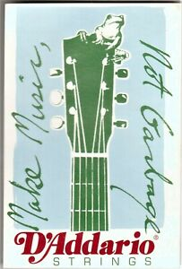 D-039-ADDARIO-Advertising-Sticker-Acoustic-Guitar-NEW-OLD-STOCK-FREE-POSTAGE