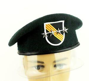 U-S-SPECIAL-FORCES-GREEN-BERET-US-MILITARY-HAT-BERET-FLASH-SFG-CAP-BADGE