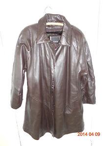 taille Fine Trek marron long femmes en L foncé Trek Manteau pour cuir YpvUgwYq