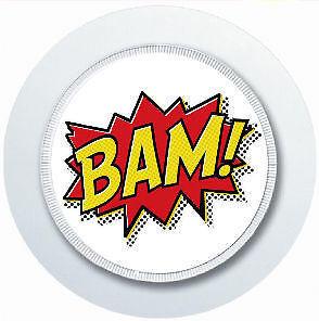 SUPERHERO COMIC BAM CAR TAX DISC HOLDER REUSABLE PARKING PERMIT HOLDER
