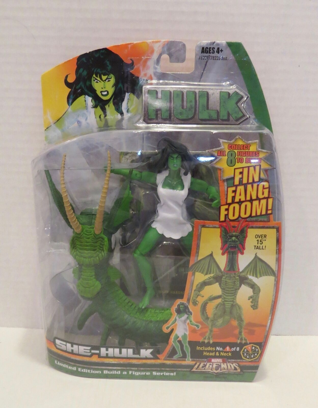 MARVEL LEGENDS SHE-HULK FIN FANG FOOM BAF SERIES Action Figure