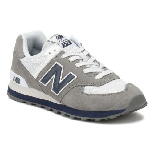 New Balance 574 Core Plus Grey//Blue//White ML574ESD Mens Size 9.5
