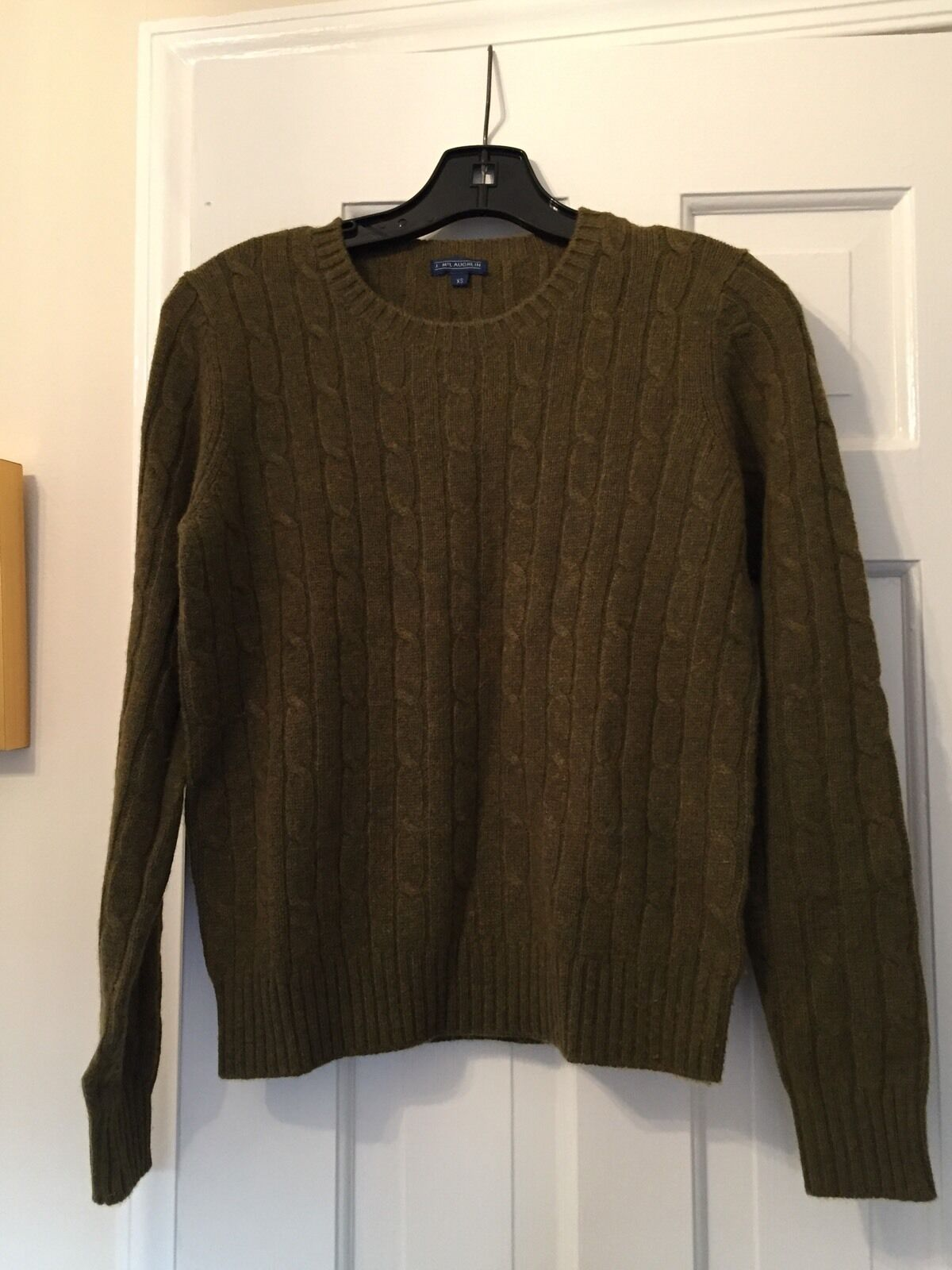 J Mclaughlin Cable Crew Neck Cashmere chandail Taille XS