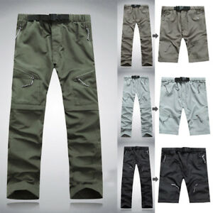 Men-039-s-Solid-Quick-Dry-Outdoor-Thin-Detachable-Waterproof-Pockets-Pants-Trousers