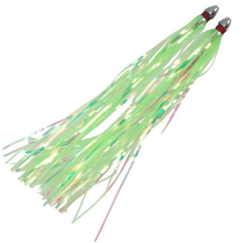 "Kingfish Killers 3/"" Free Ship 10 Boone Bait Pearl Duster Fishing Rigs"
