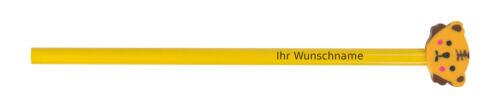 """HB mit Motiv Radierer /""""Teddy/"""" Bleistift mit Gravur"""