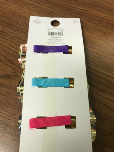 Wonder Nation mini clip bows Details about  /NWT Iridescent 3 Pack