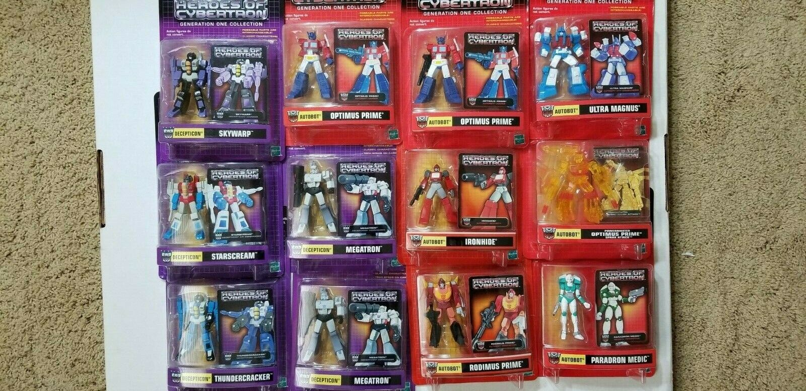 Transformers Heroes of Cybertron set of 12. Optimus Prime Megatron