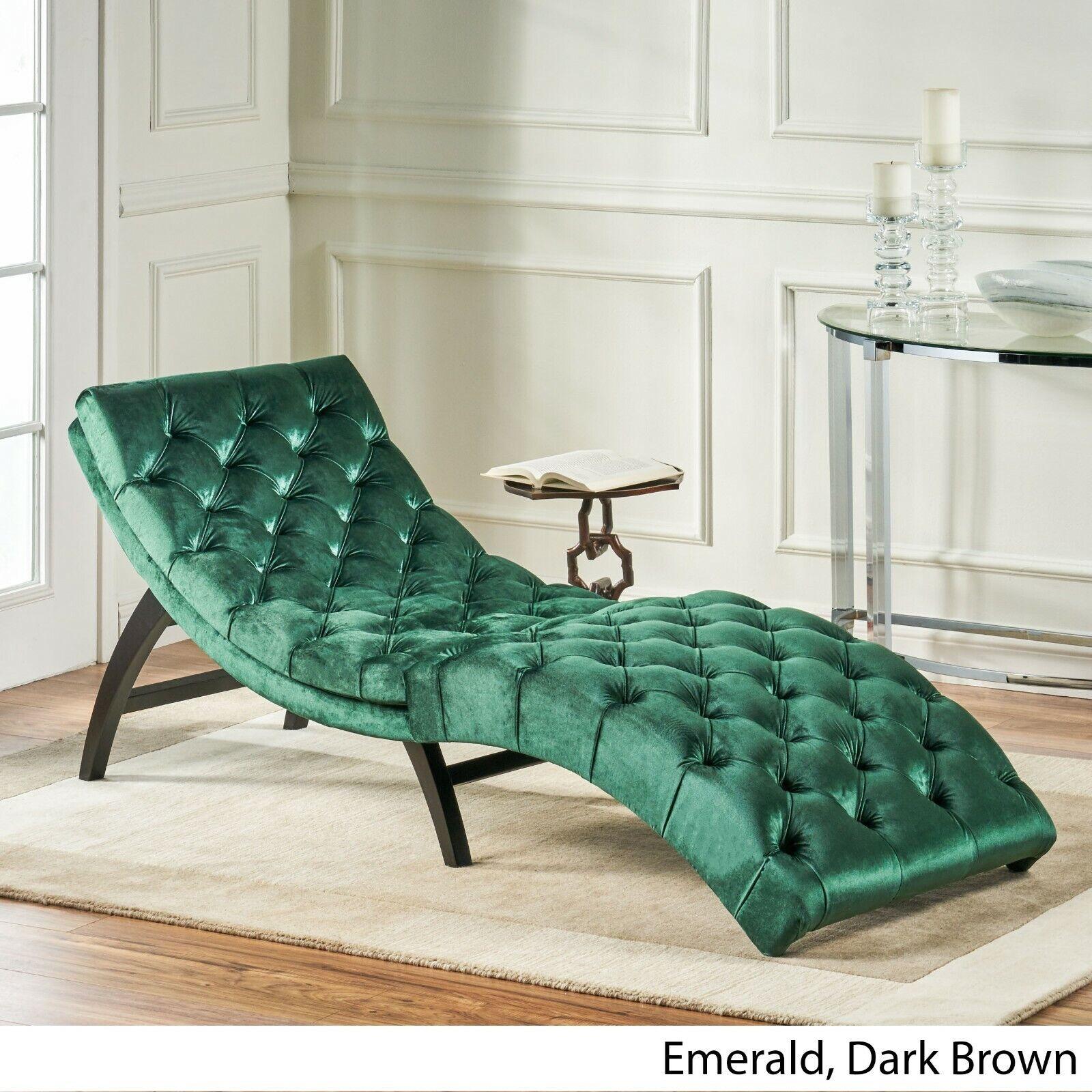 - Grasby Tufted New Velvet Chaise Lounge For Sale Online