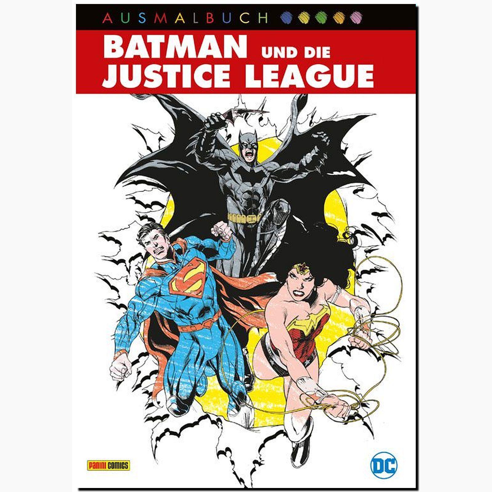 BATMAN UND die JUSTICE LEAGUE AUS MALBUCH Superhelden Farbe ...