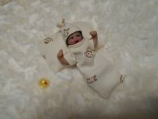 OOAK polymer clay miniature baby  girl 4 ''  Art Doll