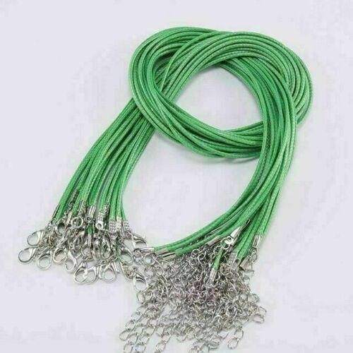 10Pcs 1.5//2mm Necklace Lobster Clasp Rope Cord String Braided Rope Pendant Charm
