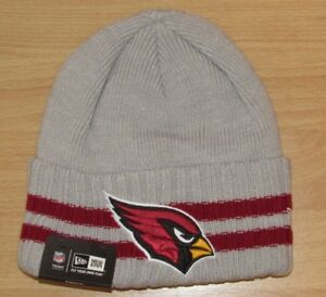 Image is loading Arizona-Cardinals-Away-Gray-Traditional-Cuffed-Winter-Knit- 9195259ac