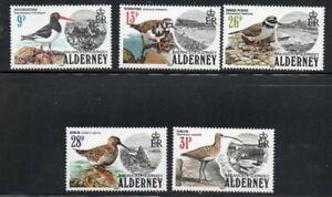 Alderney Sc 13-17 1984 Birds stamp set mint NH