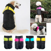 Large Small Dog Jackets Pet Clothes Waterproof Puppy Winter Coats Vest Us