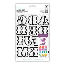 Papermania Carnival A-M letters 13 alphabet die set Use in Xcut, sizzix, eBosser