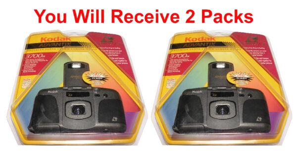 2-pack Kodak Advantix 3700ix Aps Film Camera Photo Avancée Système Flash Date