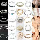 Damen Kristall Armreif Armschmuck Armband Armspange Strass Gold Silber Bracelet