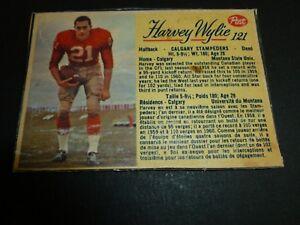 HARVEY-WYLIE-21-HALFBACK-CALGARY-STAMPEDERS-CARD-POST-121-CFL-1963-JUNKYARD