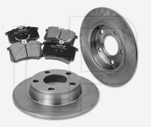 2 Bremsscheiben 4 Bremsbeläge AUDI Allroad 4BH C5 ab Bj 1997 hinten 256 mm