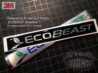 Domed Ford Ecobeast Emblem Overlays Ecoboost Eco Boost F-150 Turbocharged 10-14