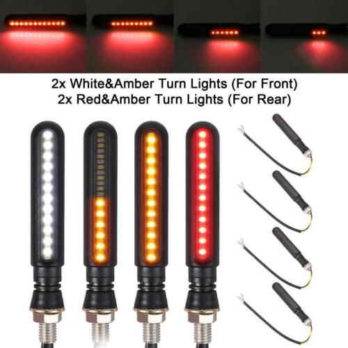 4 x Universal 12 LED Motorcycle Indicators Motorbike Turn Signal Light 12V New