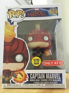 Funko Pop Captain Marvel gitd Target Exclusive #433