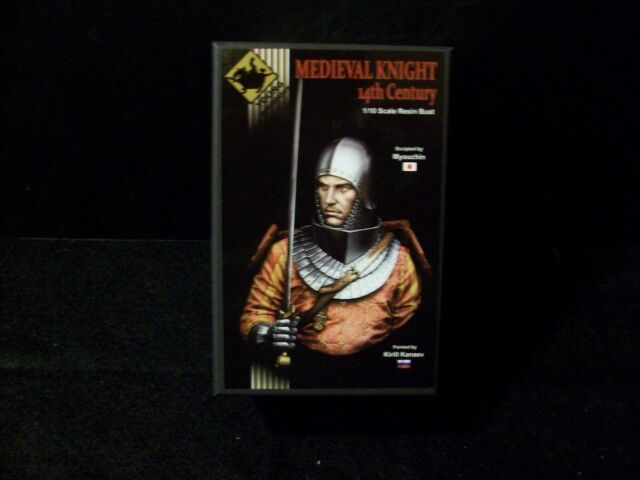 Young Miniatures European Knight 13th Century YH1855 1//10th Bust Unpainted Kit