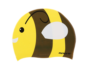 a029f75d5c9 SwimOutlet Sporti Bumble Bee Jr. Silicone Swim Cap Learn To Swim ...