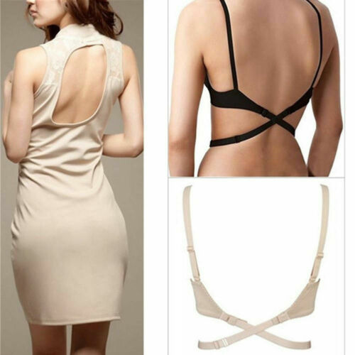 Women/'s Adjustable Low Back Backless Bra Converter Extender Straps 2 Hooks