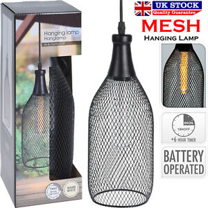 Industrial Style Mesh Lampada a sospensione LED Caldo Interni Esterni Giardino Luce Batteria