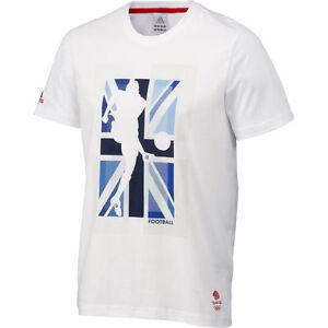 Adidas T-Shirt Team GB Olympics UK XL Graphic Football Cotton Shirt X54308
