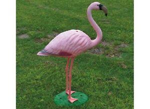 Fenicottero rosa con base h 90 cm decorazione da giardino for Fenicottero decorativo giardino