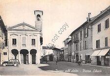 Cartolina - Postcard - Trezzo sull 'Adda - Piazza Libertà  -  animata - anni '40