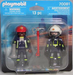 Playmobil-Blister-70081-Duo-Pack-Feuerwehr-Mann-und-Frau-Duopack-NEU