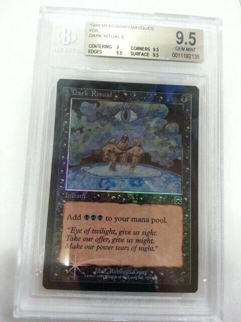 MTG Dark Ritual Foil English MM BGS9.5