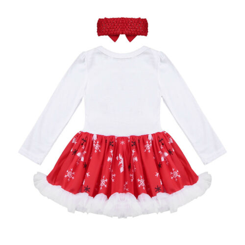 Infant Baby Girls Christmas Costume Romper Tutu Dress Outfits Party Xmas Clothes