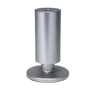 Imperdibile 4 piedino piedini sagomto per mobile in abs colore alluminio 12 cm