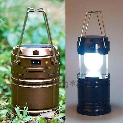 Outdoor Solar Power Camping Portable Lantern Rechargeable Emergency Light Hiking