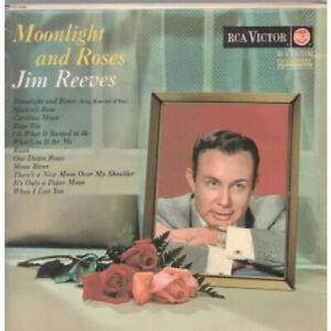 JIM-REEVES-Moonlight-And-Roses-LP-VINYL-UK-Rca-Victor-12-Track-Red-Spot-Label