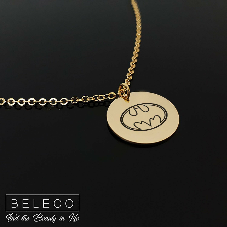 Handmade Batman Necklace Cute Pendant For Women Superhero Charm Bat Symbol Jewel