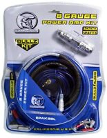Bullz Audio 8 Gauge Car Amplifier Amp Installation Power Wiring Kit   Epak8bl on sale