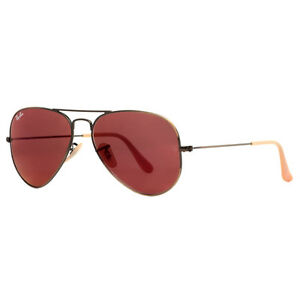 red ray ban sunglasses  Ray Ban Aviator Red
