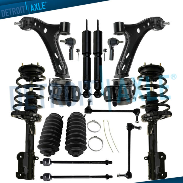10PC Front Quick Install Struts and Coil Springs w//Front Lower Ball Joints Sway Bars Detroit Axle Inner and Outer Tie Rod Ends for 1999 2000 2001 Honda Odyssey