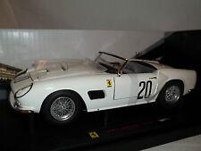 "Hot Wheels Elite 1:18 Ferrari 250 California ""SWB"" LM 1969 Weiß Neu OVP"